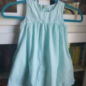 Primary sz 4/5 aqua dress